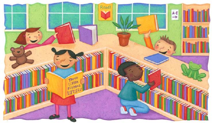 Risultati immagini per biblioteca bambini